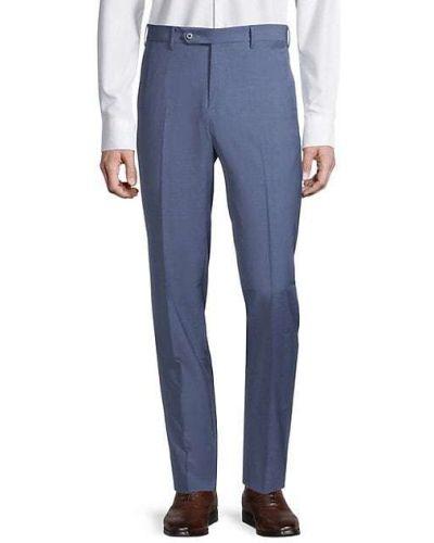 Шерстяные синие брюки с карманами Zanella