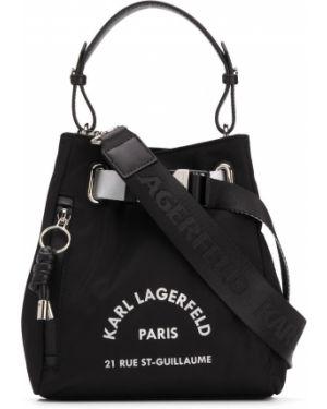 Сумка на плечо с леопардовым принтом с пряжкой Karl Lagerfeld