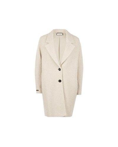 Шерстяное бежевое пальто Peserico