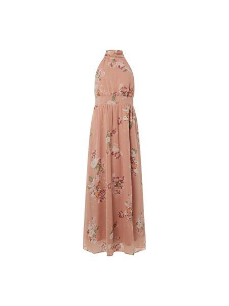 Różowa spódnica rozkloszowana z szyfonu Vero Moda