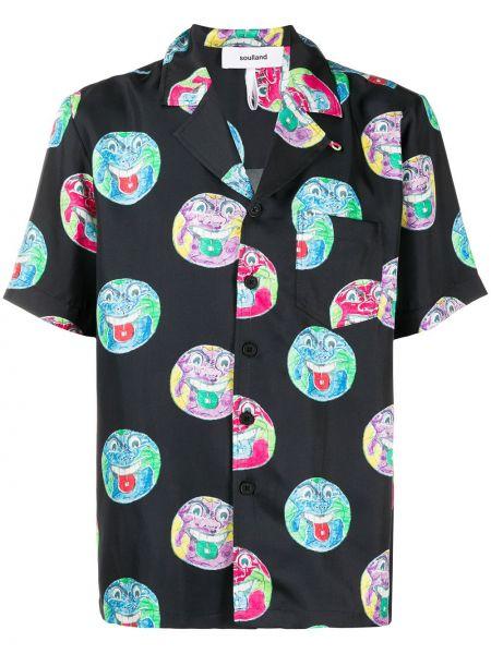 Koszula krótkie z krótkim rękawem jedwab prosto Soulland