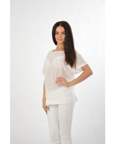 Шелковая блузка - белая Poustovit