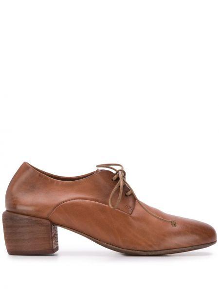 Туфли на каблуке на плоской подошве на шнуровке Marsèll