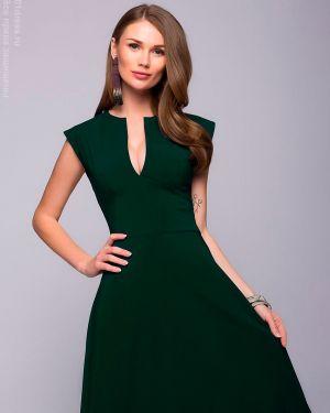 Расклешенное вечернее платье с декольте с рисунком на торжество 1001 Dress