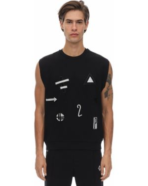 Czarny t-shirt bawełniany bez rękawów Gr Uniforma X Diesel Red Tag