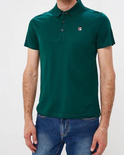 Зеленое поло с коротким рукавом Fila