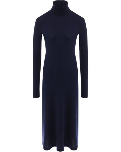 Платье с воротником синее Ralph Lauren