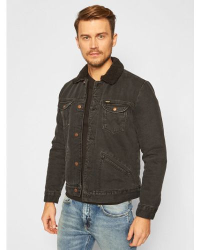 Czarny kurtka jeansowa Wrangler