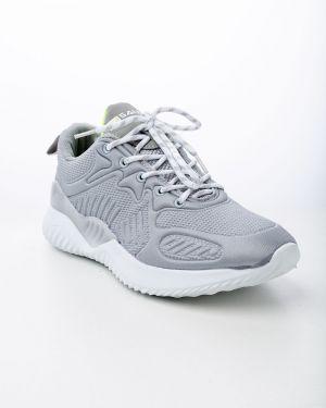Белые текстильные кроссовки Saijun