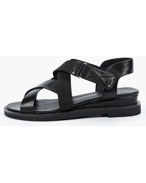 Кожаные черные сандалии Zenden