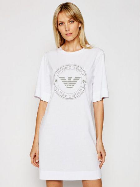 Biała koszula nocna Emporio Armani Underwear