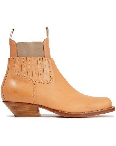 Ankle boots skorzane na obcasie Mm6 Maison Margiela
