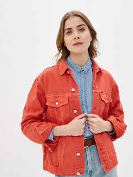 Джинсовая куртка - красная Rifle