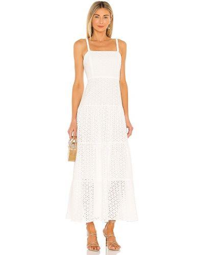 Хлопковое белое платье макси с подкладкой Karina Grimaldi
