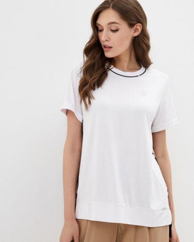 Белая футболка с короткими рукавами Franco Vello