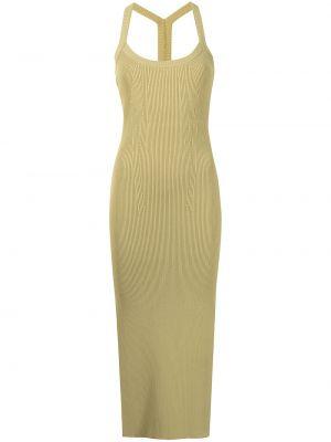 Платье миди в рубчик - зеленое Manning Cartell