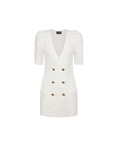 Повседневное белое платье Elisabetta Franchi