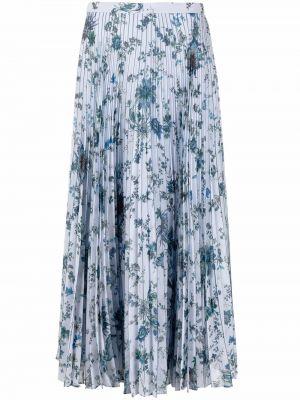 Niebieska długa spódnica w kwiaty Erdem