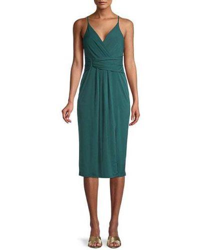 Трикотажное зеленое платье без рукавов Bcbgeneration