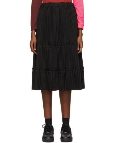 Черная плиссированная юбка с карманами Comme Des Garçons