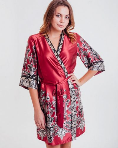 Домашний халат - бордовый Mia-amore
