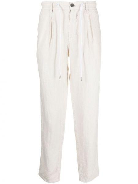 Beżowe spodnie z paskiem Boss Hugo Boss
