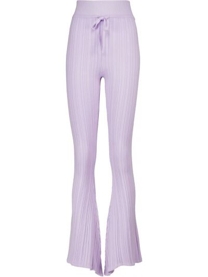 Fioletowe spodnie prążkowane Live The Process