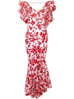 Платье миди с открытой спиной с цветочным принтом Bambah