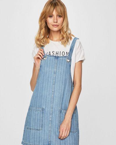 Джинсовое платье с карманами прямое Review
