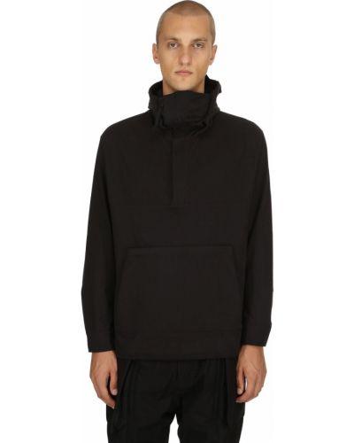 Czarna kurtka z kapturem bawełniana Nilmance