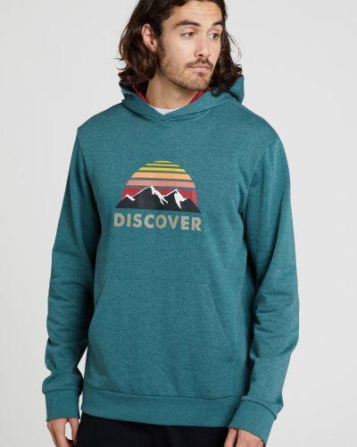 Zielona bluza z printem Mountain Warehouse