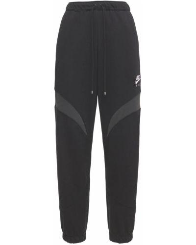 Czarne spodnie bawełniane Nike