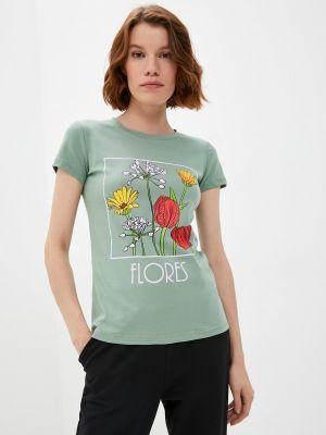 Зеленая футболка осенняя Winzor