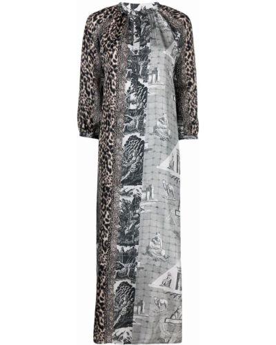 Белое расклешенное платье Pierre-louis Mascia