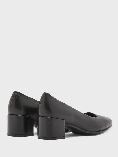Кожаные туфли с квадратным носком квадратные Ecco