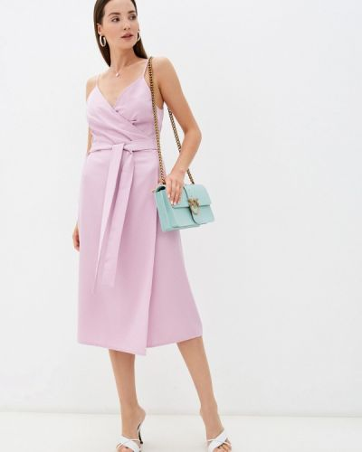 Розовое платье на запах Imocean