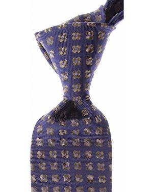 Złoty krawat - niebieski Gianni Versace