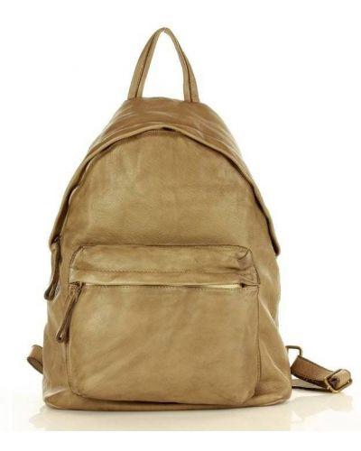 Beżowy plecak skórzany miejski Mazzini