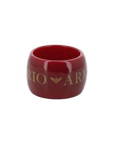 Красный браслет Emporio Armani