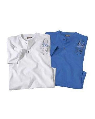 Хлопковая белая футболка с воротником Atlas For Men