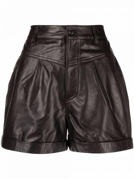 Кожаные шорты - коричневые Ba&sh