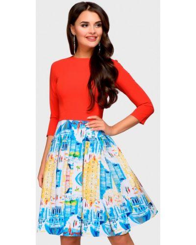 Платье красный осеннее 1001dress