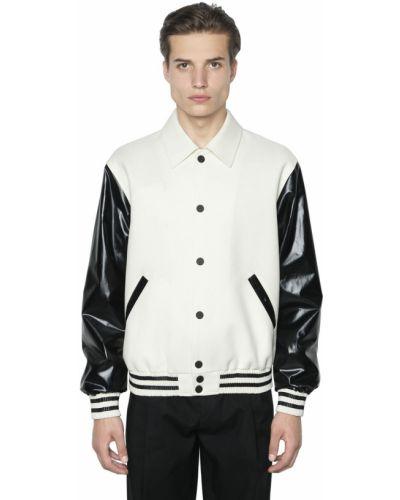 Beżowa kurtka skórzana pikowana Calvin Klein Collection