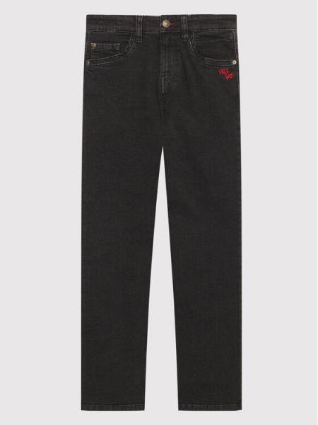 Mom jeans - czarne United Colors Of Benetton