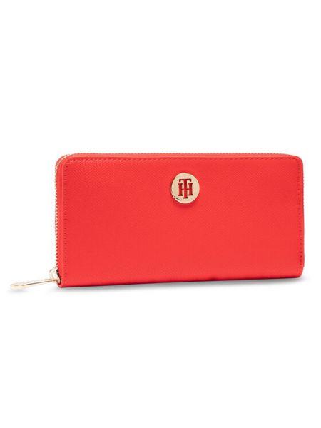 Czerwony portfel oversize Tommy Hilfiger