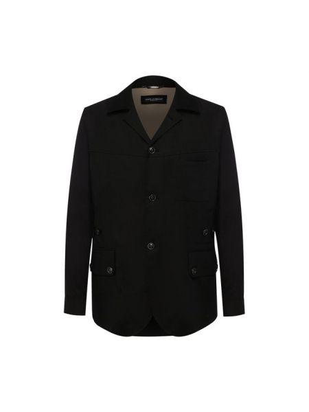 Куртка черная льняная Dolce & Gabbana