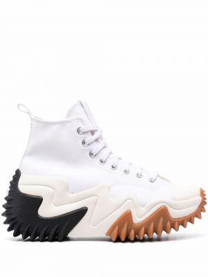 Sneakersy wysokie - białe Converse