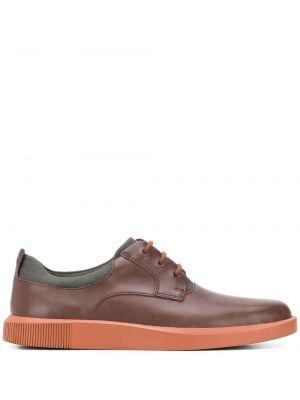 Коричневые кожаные туфли на шнуровке Camper