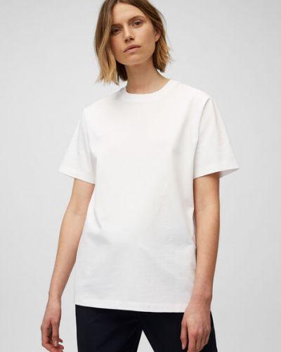 Biały T-shirt basic bawełniany Marc O Polo