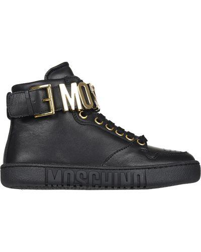 Кроссовки черные Moschino